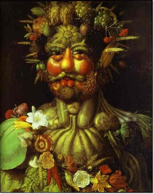 Vertumnus, retrato de Rodolfo II por Giuseppe Arcimboldo