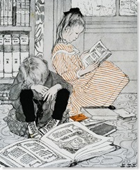 Childhood Book Illustration by Sarah Stilwell Weber© Blue Lantern Studio/CORBIS (1904)