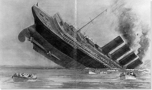 Lusitania Sinking© The Mariners' Museum/CORBIS