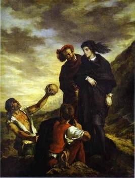 Hamlet et Horatio, Eugène Delacroix (1839).