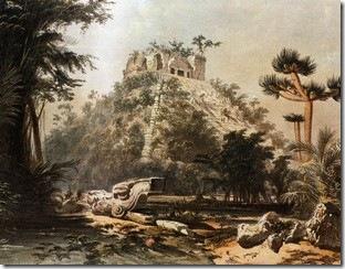 Pirâmide Kukulkhan em Chichenitzá. Frederick Catherwood  © Gianni Dagli Orti/CORBIS