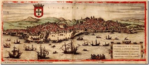 Lisboa, em 1572. Clique sobre a imagem.