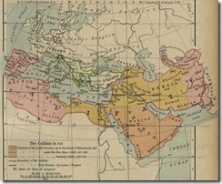 The Expansion of the Muslim Empire under Muhammad and the Four Rashidun Caliphs