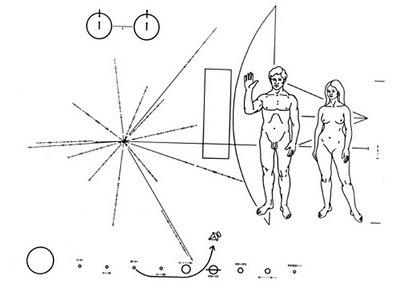 Mensagem da Pioneer. Imagem ₢ Spiegel Online